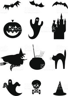 Хэллоуин дизайн иконки Сток Вектор Стоковая фотография