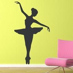 Ballerina Decal - Large Vinyl Wall Art - Children Wall Decals. $38.00, via Etsy.