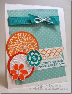 LeAnne Pugliese WeeInklings ColourQ236 Betsy's Blossoms Birthday Stmapin Up