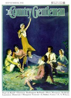 Country Gentleman - 1931-09-01: Couples by Bonfire (Frank Bensing)