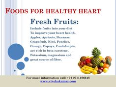 Fresh foods for health heart