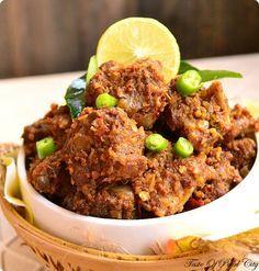 Kerala Mutton Ularthiyathu / Mutton Dry Fry