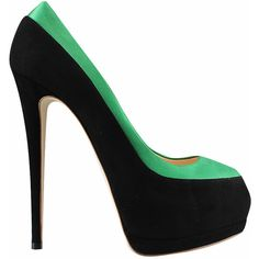 Giuseppe Zanotti Suede and satin open-toe pump found on Polyvore