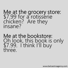 That's cuz u can cook a chicken for 5ish but if you write the book u always know the ending ahead of time