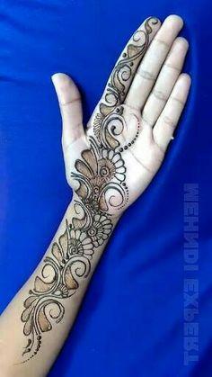 Black Mehndi Designs, Cute Henna Designs, Mehndi Designs Front Hand, Henna Tattoo Designs Arm, Khafif Mehndi Design, Latest Henna Designs, Mehndi Designs 2018, Mehndi Designs Book, Mehndi Designs For Girls