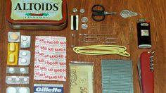 Altoids survival kit - Good for backpacking/road trips.