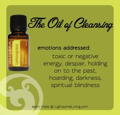 Clear negative energy with lemongrass! New fav!