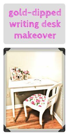 ZenShmen! | A DIY Home Improvement Blog | -Dipped Writing Desk Makeover |  |  redo