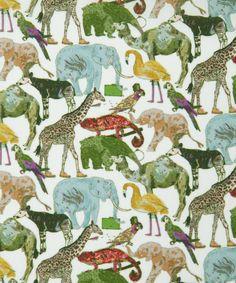 Liberty Art Fabrics Queue For The Zoo C Tana Lawn | Tana Lawn by Liberty Art Fabrics | Liberty.co.uk