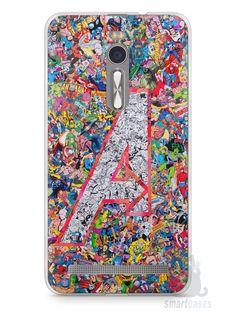 Capa Zenfone 2 The Avengers Comic Books - SmartCases - Acessórios para celulares e tablets :)