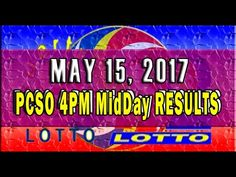 PCSO MidDay - 4PM Results May 15, 2017 (SWERTRES & EZ2)