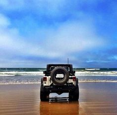 Jeep on a beach....couldn't get any better than that....