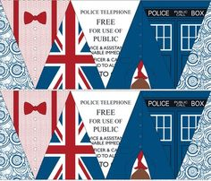 Doctor Who Bunting Flags, add more in styles of the other doctors, and you're ready for the 50th! :)
