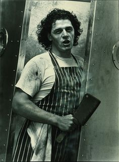 "Young Marco Pierre White - my favorite chef and one of the best autobiographies I've read in ""the devil in the kitchen"" Chef Marco Pierre White, Best Autobiographies, White Heat, Best Chef, National Portrait Gallery, Celebrity Portraits, The Guardian, My Idol, Portrait Photography"