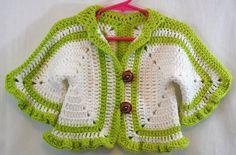 Suéter para bebé ganchillo a mano, Cal chicas suéter verde y blanco, 100% algodón Jersey, Jersey cutre de hecho de defectos Pull Crochet, Crochet Bebe, Crochet Granny, Hand Crochet, Knit Crochet, Cardigan Bebe, Baby Cardigan, Girls Sweaters, White Sweaters