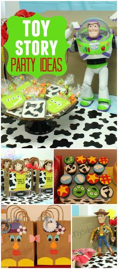 What a fun Toy Story party! Awesome cupcakes and favor bags! See more party ideas at CatchMyParty.com!