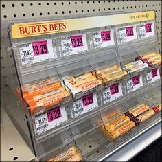 Burts Bees Gravity-Feed Lip-Balm Display Retail Fixtures, Burts Bees, Lip Balm, Lips, Display, Floor Space, Billboard, Eos Lip Balm