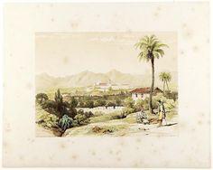 Haghe, Louis (1806-1885)   Plain of Valencia & Convent of S. Miguel de los Reyes [Material gráfico] / Geo. Vivian delt. ; L. Haghe. — [Londres : s.n., 1838]  1 estampa : litografía coloreada a mano ; imagen 21'5 x 29 cm., en h. de 33'5 x 42 cm
