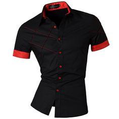 2016 Primavera Verão Da Marca Roupas Vestido Da Forma Dos Homens Casaul Shirt…