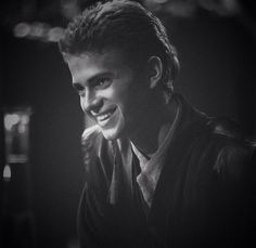 Anakin Skywalker-Hayden Christensen. Possibly the cutest picture of him ever, I mean look at that smile. Makes me smile :)