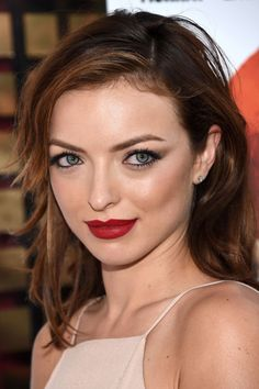 6 beauty style secrets to peruse: Francesca Eastwood in summer red lipstick