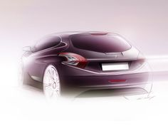 Peugeot 208 XY: the design - Image Gallery Car Design Sketch, Car Sketch, Peugeot, 2d Art, Transportation Design, Automotive Design, Concept Cars, Exterior Design, Automobile