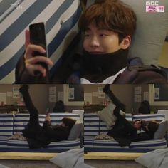 Got a message from your crush be like: Nam Joo Hyuk Lee Sung Kyung, Joon Hyuk, Korean Novela, Kim Bok Joo Swag, Weightlifting Kim Bok Joo, Song Daehan, Kim Book, Swag Couples, My Love From Another Star