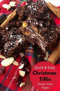 Crunchy, sweet and full of all the wonderful Christmas flavours you could ever want. Tiffin or rocky road either way. This Christmas tiffin is a chocolately spiced delight. Gluten free and vegan.