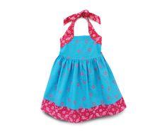 Chicas azul Halter talla 4 vestido vestido Smocked de las
