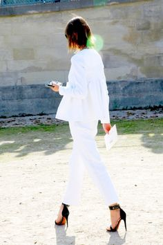 all white #outfit #style