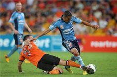 Ali Abbas comes under heavy attention in Sydney FC's do-or-die final match of the 2012/13 season against Brisbane Roar