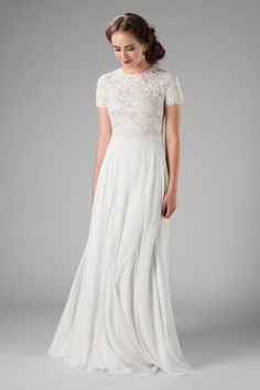 Western Wedding Dresses, Modest Wedding Dresses, Bridal Dresses, Lace Wedding, Wedding Tips, Conservative Wedding Dress, Diy Wedding Dress, Trendy Wedding, Wedding Planning