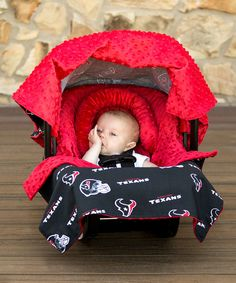 Look at this #zulilyfind! Houston Texans Whole Caboodle Car Seat Accessory Set by Baby Fanatic #zulilyfinds