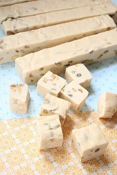 Irish Cream & Pistachio Fudge - made this as part of Christmas gifts...YUM!