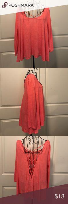 American Eagle Pink Long Sleeve Tie up Back Top American Eagle Outfitters Pink Long Sleeve Tie up Back Top American Eagle Outfitters Tops Tees - Long Sleeve