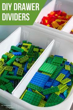 Plastic Drawers, Diy Drawers, Plastic Bins, Diy Drawer Dividers, Diy Drawer Organizer, Lego Desk, Lego Table, Lego Room, Lego Storage