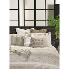 A beige and greyduvet cover