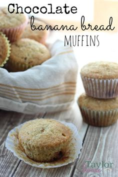 Banana Bread muffins with chocolate