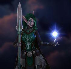 Commission for Viridun by Amionna on DeviantArt World Of Warcraft 3, World Of Warcraft Characters, Warcraft Art, Night Elf, Dark Elf, Weapon Concept Art, Wow Art, Character Design Inspiration, Character Art