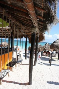 Playa Del Carmen, Mexico swings at bar Places To Travel, Places To Visit, Dream Vacations, Vacation Destinations, Cozumel Mexico, Beach Bars, Mexico Travel, Riviera Maya, Beach Fun