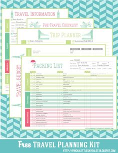 Free Download Travel Planning Itinerary Template  Travel Paint