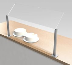 High quality clear acrylic sneeze screens - perfect for retail and display spaces....