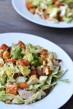 Zoete aardappelsalade met gerookte forel - OhMyFoodness