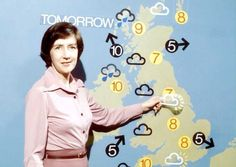 The TV weather report where the presenter stuck magnetic clouds etc on a board.