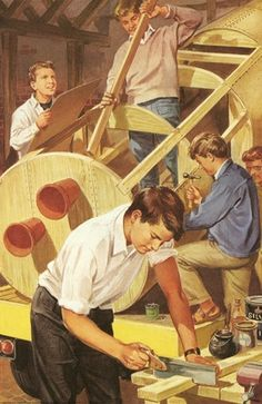 Building a wooden space ship - Peter & Jane , The Carnival