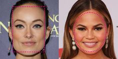 Contouring for your face shape - this simple tutorial makes it really easy to figure out your face shape and how to contour and highlight based on your face shape