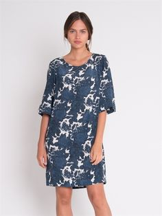 A gorgeous floral printed silk dress with a flattering rounded neckline. A great loose fit with a slight bell sleeve. Print is exclusive to The Ark. Made in Australia. #TheArkClothingCompany