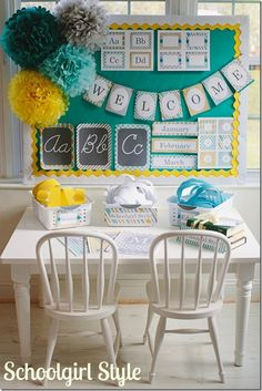 Classroom Couture–Sunny Skies  I want to do this for my new classroom!!