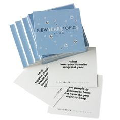 New Year's Table Topics To Go