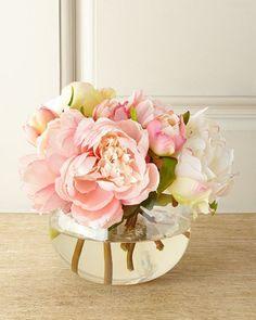 Chantilly Lace Faux-Floral Arrangement